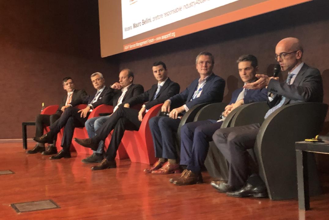 Servitization goes digital, i protagonisti: Nicola Saccani, Michele Federici, Alessandro De Gregorio, Francesco Gallo, Coen Jeukens, Giovanni Cogotzi, Stefano Butti