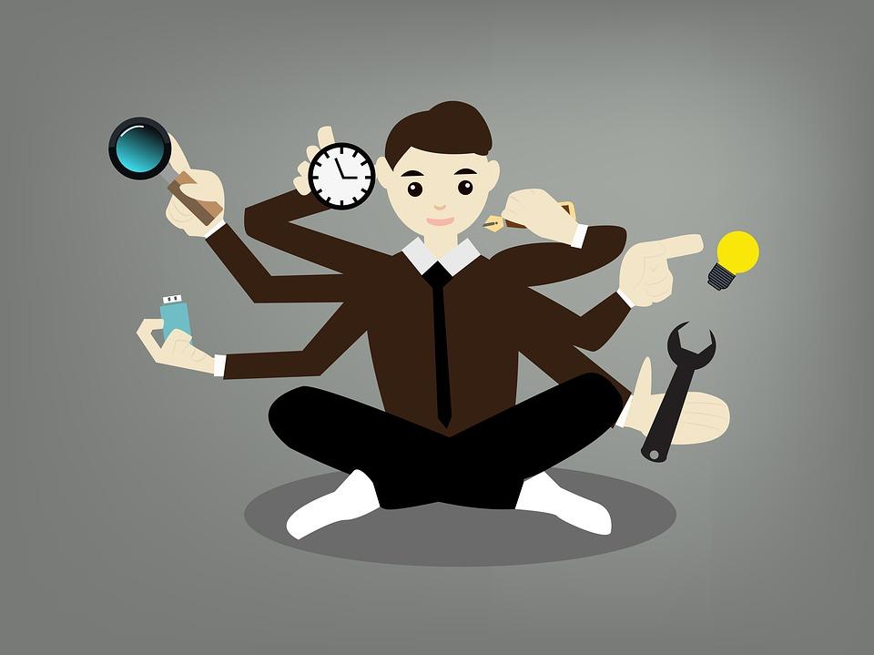 Uomo, Ufficio, Uomo D'Affari, Business, Multitasking